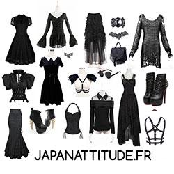vêtements et accessoires occultes, gothique, witchy, witch