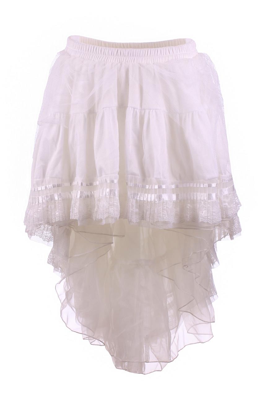 jupe blanche asym trique victorienne burlesque gothique japan attitude penta014. Black Bedroom Furniture Sets. Home Design Ideas