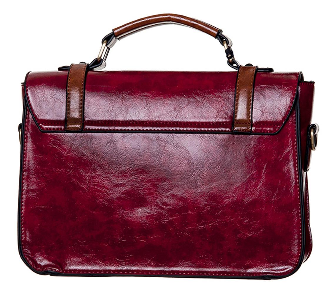 347b6a45b8ad5 Sac à main cartable rouge et marron imitation cuir Steampunk > JAPAN ...