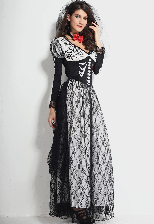 costume femme squelette noir et blanc avec dentelle. Black Bedroom Furniture Sets. Home Design Ideas