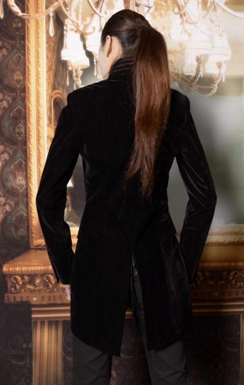 Manteau femme velours lisse