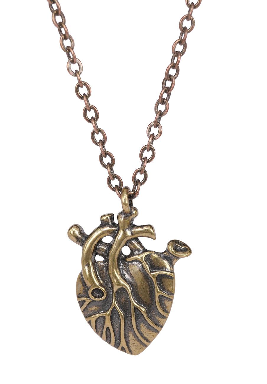 Coeur Steampunk collier pendentif coeur steampunk couleur or vieilli > japan