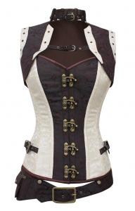 db90fa9911 White and brown corset with belt and bolero Steampunk 128   JAPAN ...
