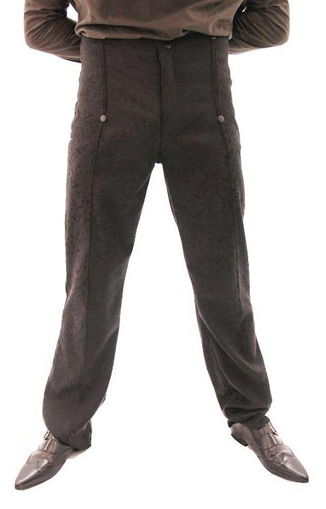 Pantalon emporium black à motif élégant gothique steampunk Phaze - golden Steampu