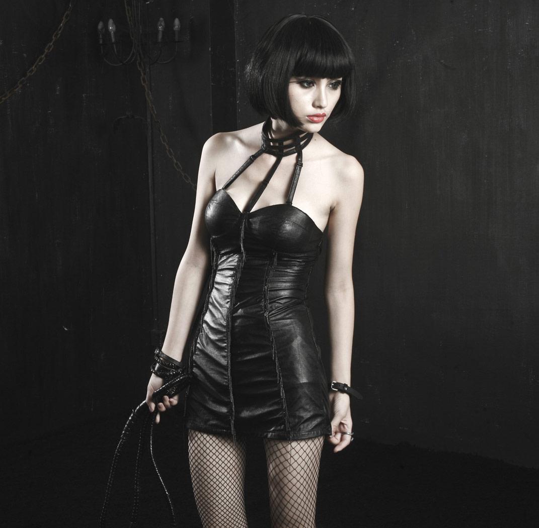 Leather dress fetish — img 8
