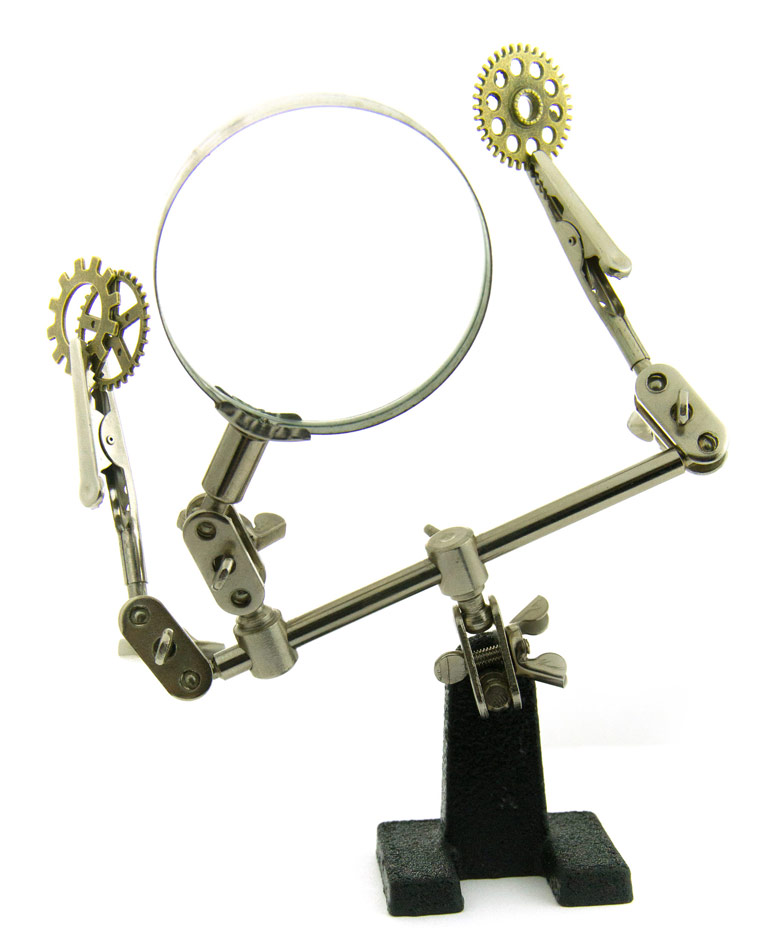 Bras articul avec pince et loupe japan attitude accgad026 - Miroir avec bras articule ...