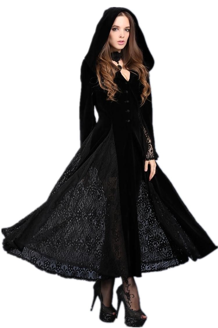 Robe noire longue et large