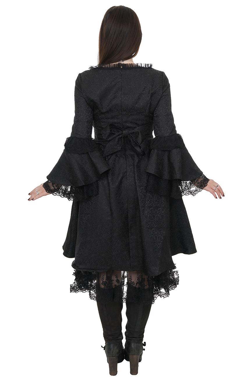 robe longue manches noir gris velours rouge lolita. Black Bedroom Furniture Sets. Home Design Ideas