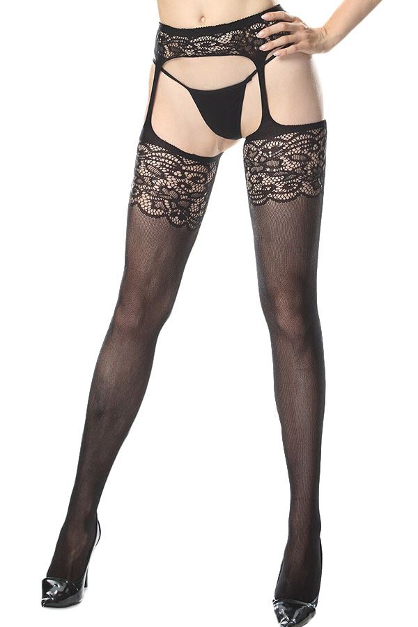 Bas collants motif dentelle effet porte jarretelle japan attitude acccha296 - Salopes en porte jarretelles ...