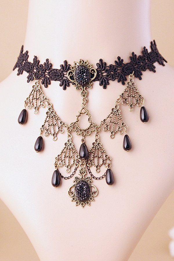 collier perle gothique