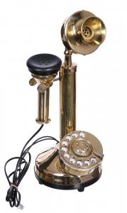 antique style brass candle telephone old phone replica retro steampunk japan attitude. Black Bedroom Furniture Sets. Home Design Ideas
