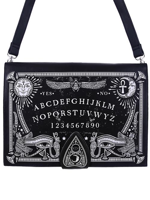 Spirituels Sac Forme Symboles De Noir Planche En Livre Ouija Restyle Et 8rqZ8anw