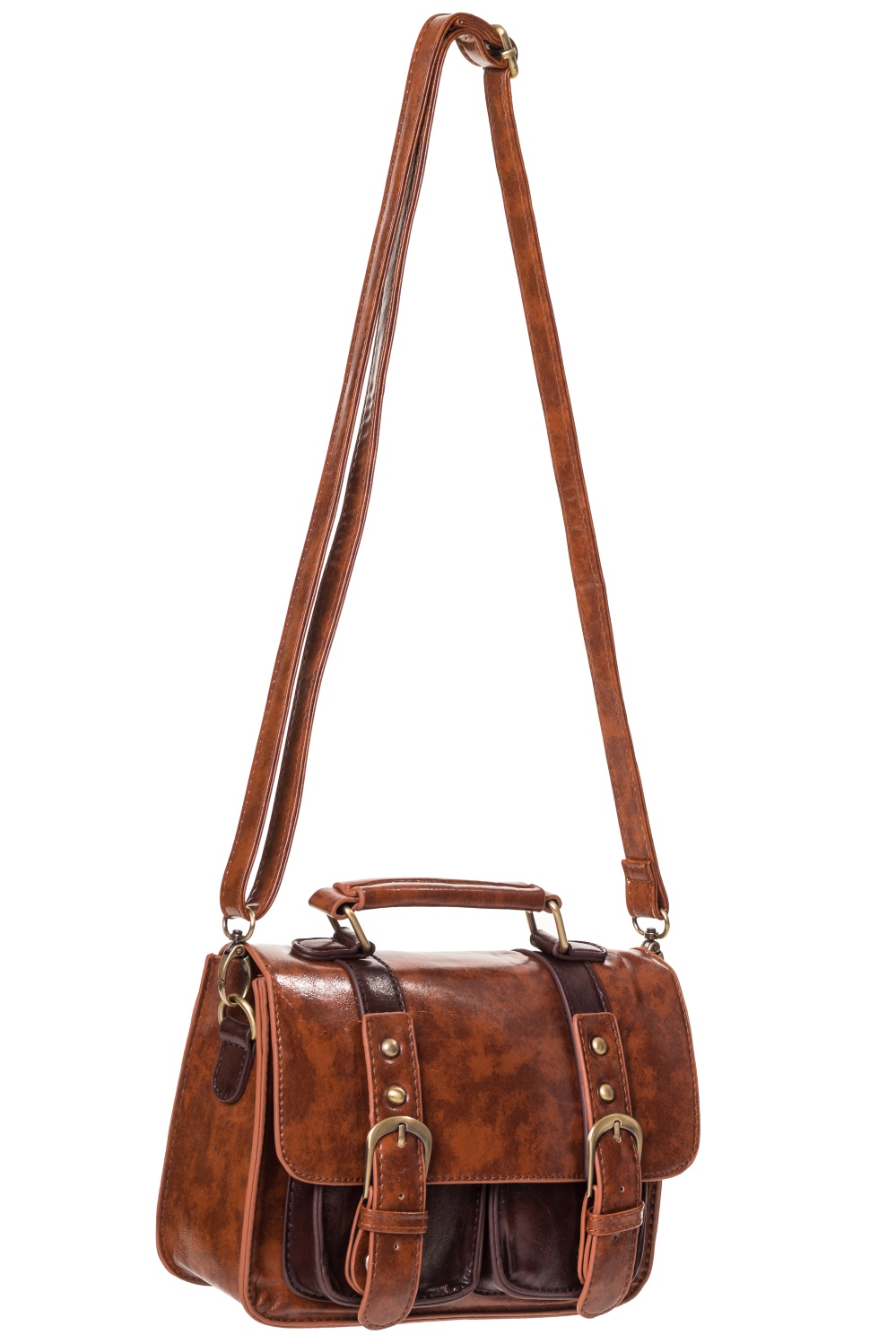bfeae7ff4439 Steampunk Banned brown imitation leather handbag satchel Banned BBN7051  Click to enlarge