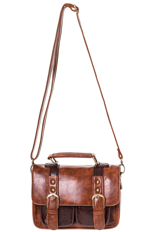 84504177a6f2 Steampunk Banned brown imitation leather handbag satchel Banned BBN7051