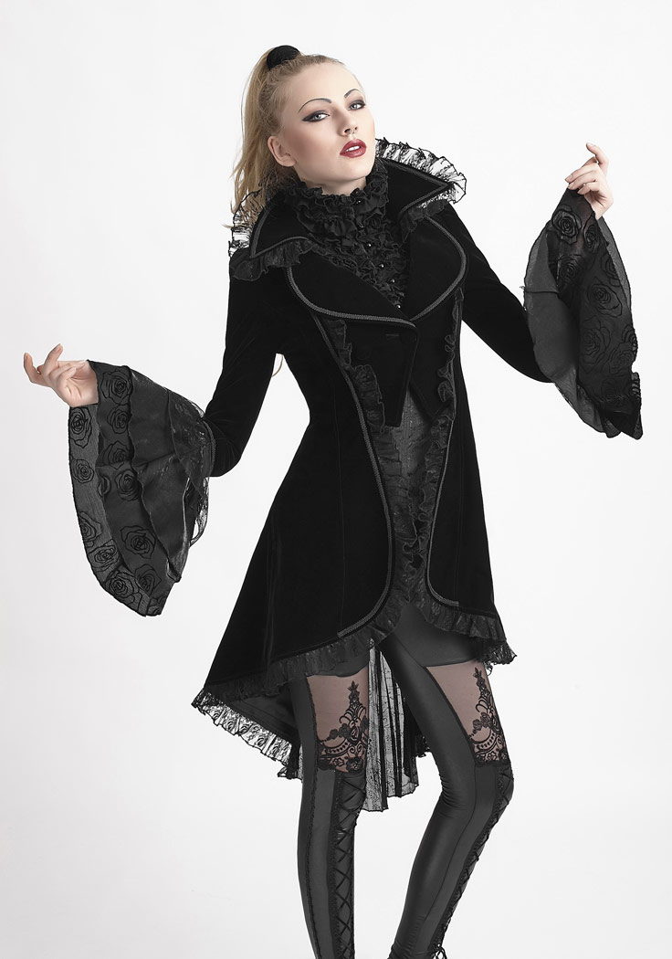 31f923aed889 5 of 8 Black jacket velvet with lace elegant victorian gothic pun Punk Rave