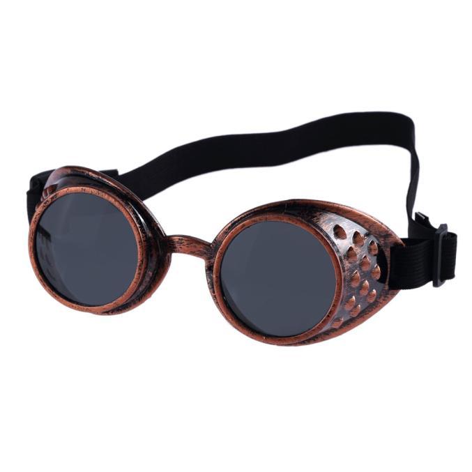 JapanAttitude Lunettes goggles gris métallisé verres teintés steampunk gothique cyber DRjFJt