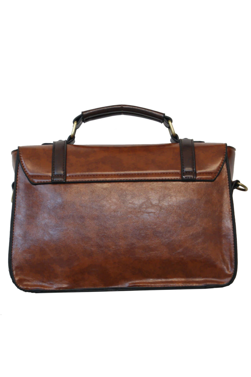7fc0fa96f9f9 Steampunk Banned light brown and coffee fack leather handbag satchel ...