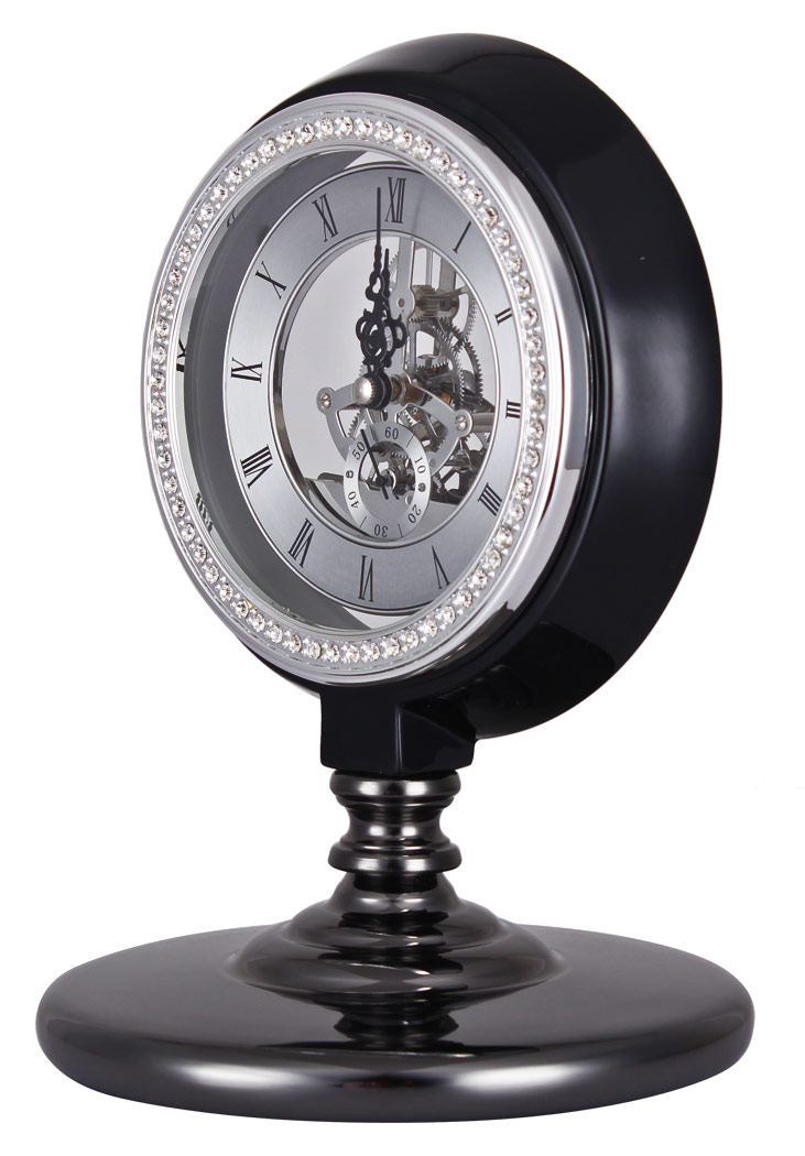 horloge de bureau noir avec engrenages luxueuse retro steampunk d coration loft ebay. Black Bedroom Furniture Sets. Home Design Ideas