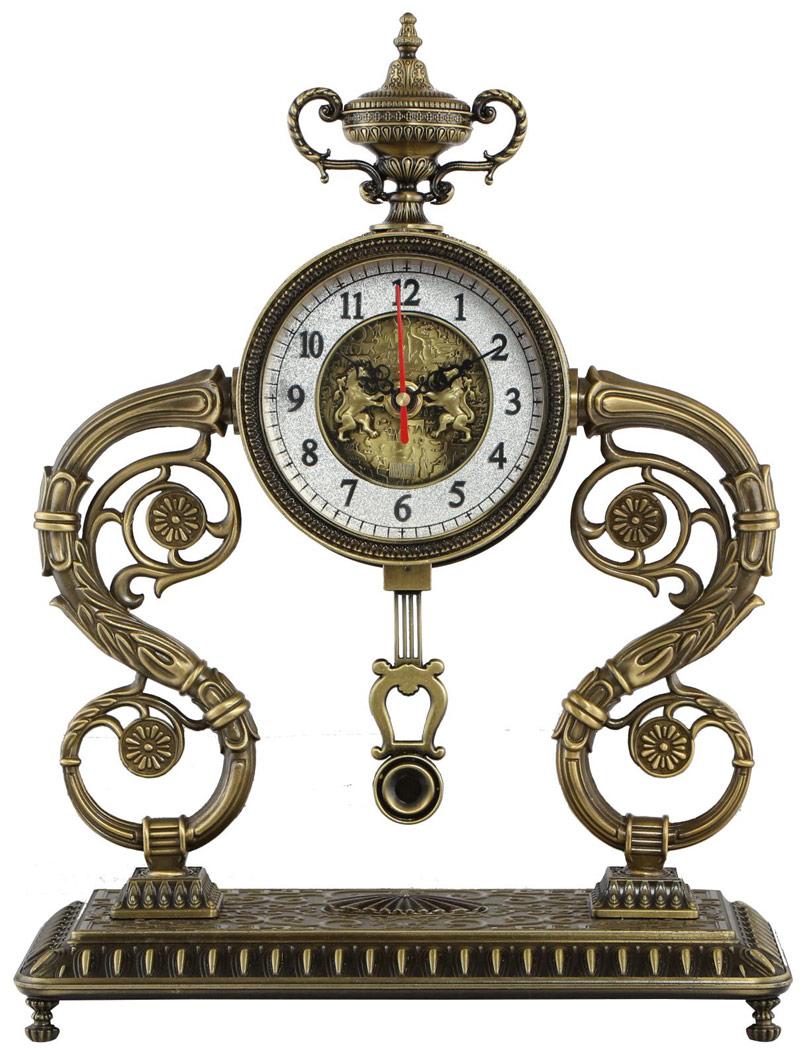 horloge de bureau antique luxueuse r plique en m tal chateau steampunk japan attitude guib0021. Black Bedroom Furniture Sets. Home Design Ideas