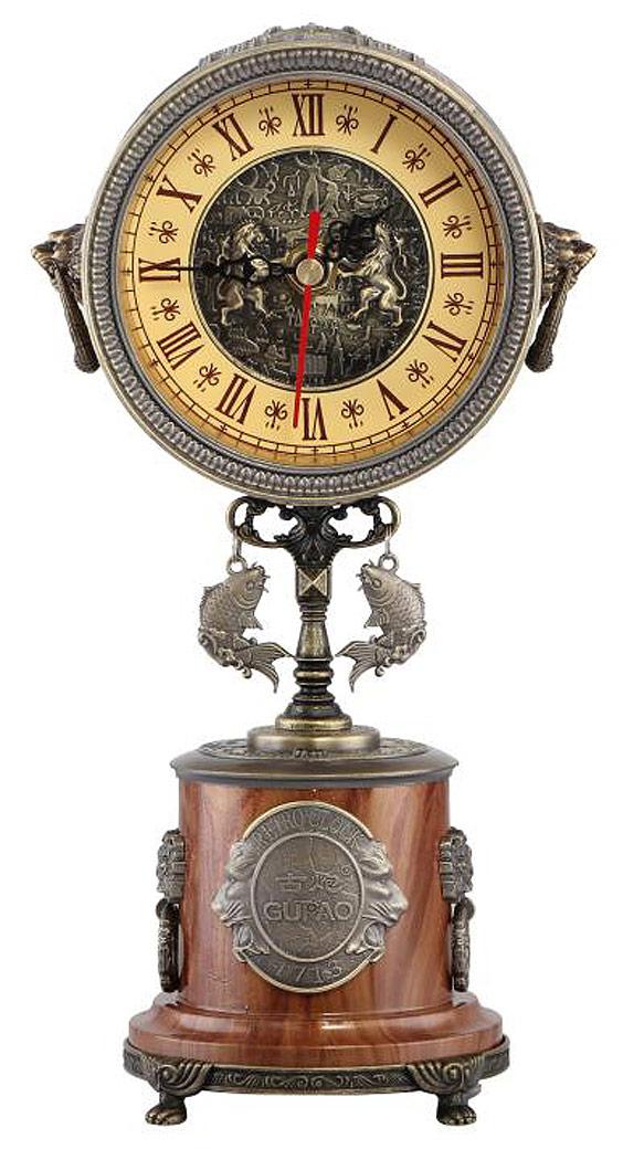 horloge de bureau antique luxueuse r plique 1713 en m tal retro chateau steampunk japan. Black Bedroom Furniture Sets. Home Design Ideas