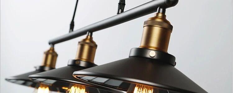 Lampes suspension industriel noire Edison retro loft steampunk ...