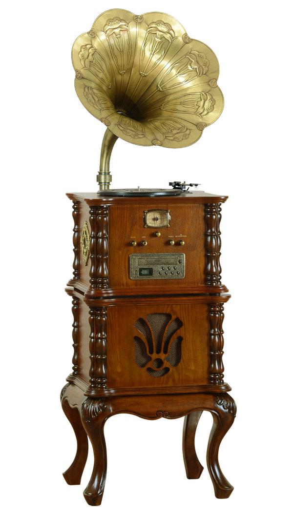 Meuble gramophone luxueux multifonction vintage retro baroque phonographe japan attitude - Meuble multifonction ...