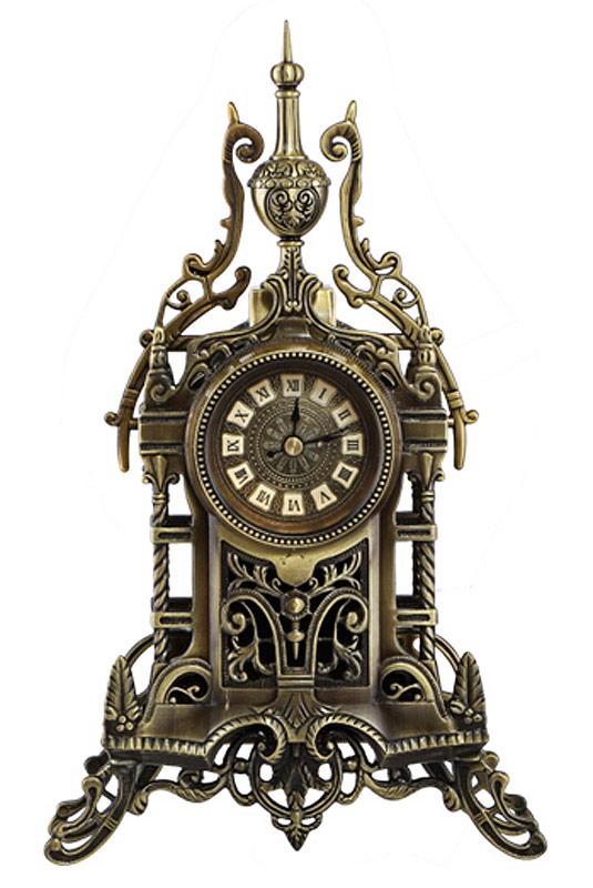 horloge de bureau antique chateau en m tal avec engrenages steampunk 1709 r plique japan. Black Bedroom Furniture Sets. Home Design Ideas
