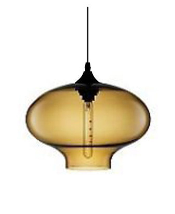 Lampe suspension en verre vintage 26cm steampunk for Lampe suspension ampoule