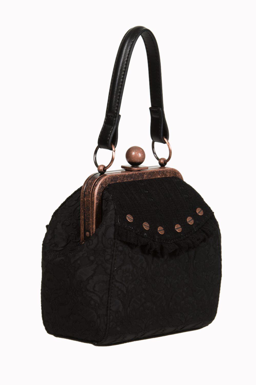 2f130cabb624 Handbag purse retro black and copper