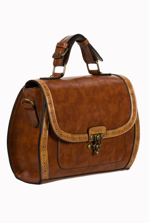 3a235d7ceae3 Handbag retro briefcase brown steampunk pinup vintage