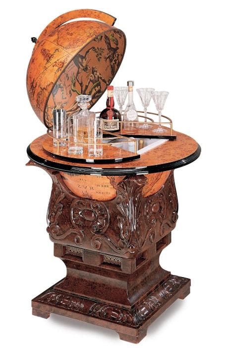 meuble bar r frig rateur globe terrestre poseidon vintage steampunk japan attitude deco0184. Black Bedroom Furniture Sets. Home Design Ideas