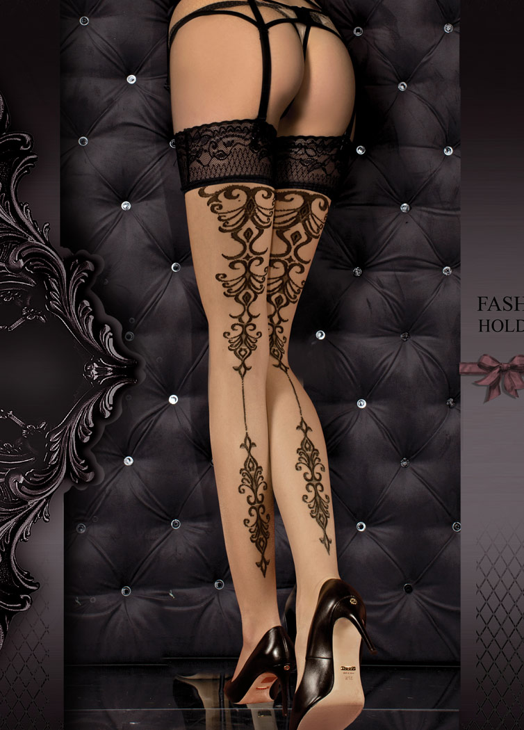 927941dcd03 Tribal Tattoo stockings elegant burlesque pattern hosiery Erotic sexy gothic