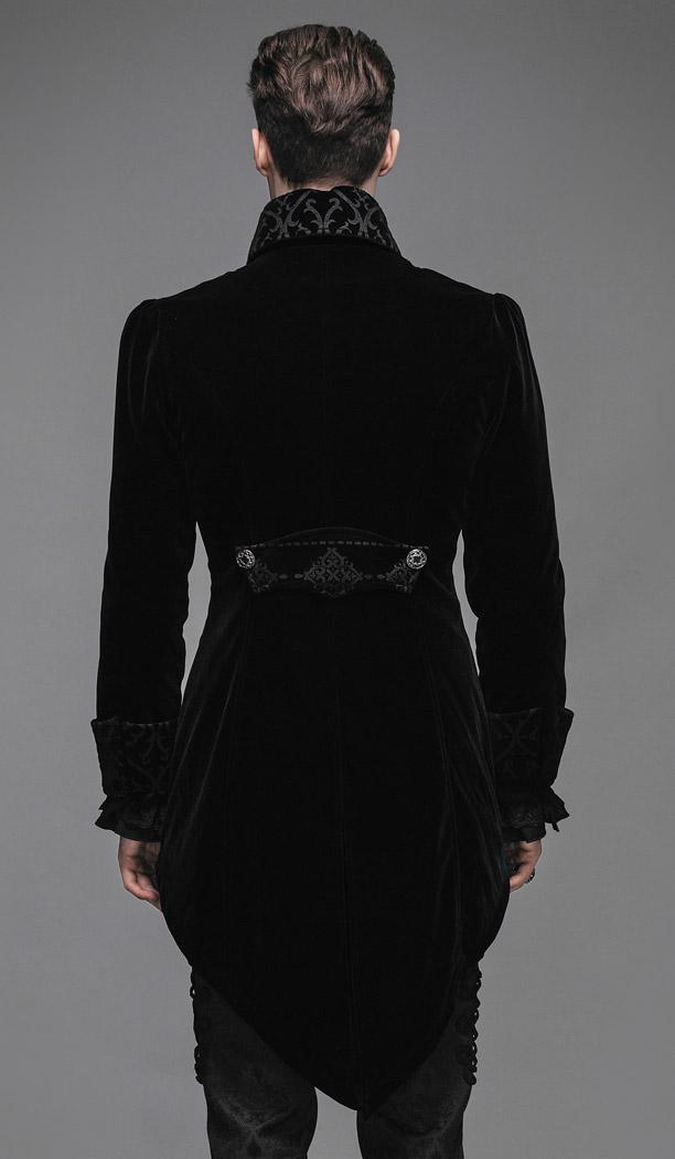 veste longue noire homme aristocrate en velours avec. Black Bedroom Furniture Sets. Home Design Ideas