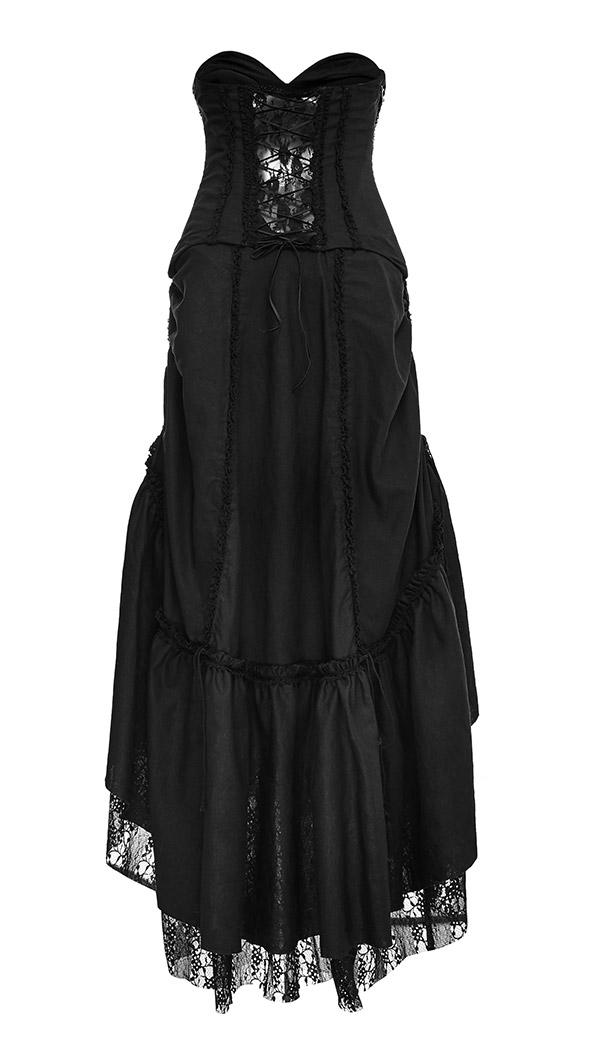 24678dade13 1 sur 8 Longue robe noire bustier avec jupon dentelle modulable gothique pu  Punk Rave