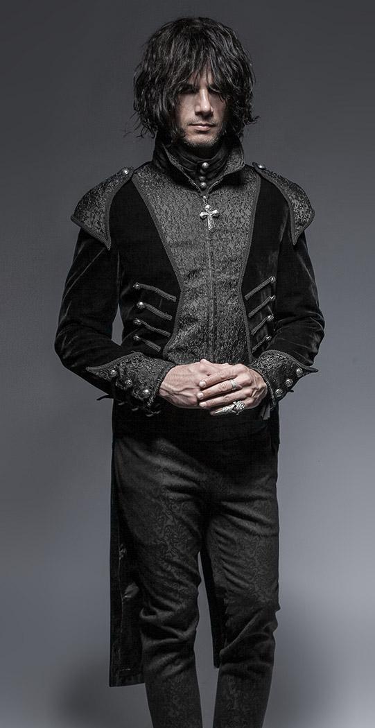 Longue veste velours noir queue de pie homme vampire gothique élégant Punk  Rave Size Chart. Photos de clients   3c2b3a90db6