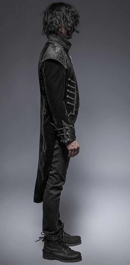 Noir Homme Longue Pie Gothique Éléga Velours Veste Queue De Vampire nkOwXN80P