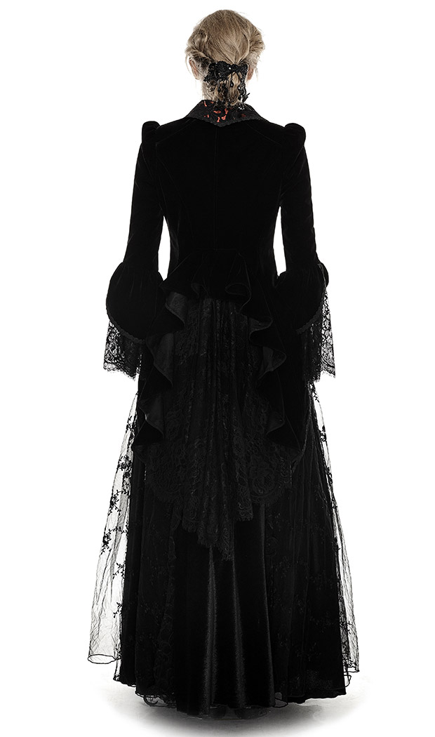 Manteau long en velours femme