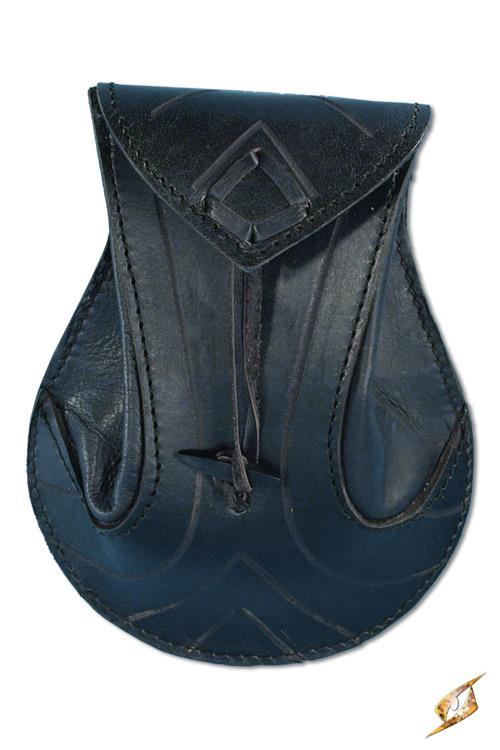 sacoche pour ceinture en cuir tann noir m di val elfique fantaisie japan attitude iron0083. Black Bedroom Furniture Sets. Home Design Ideas