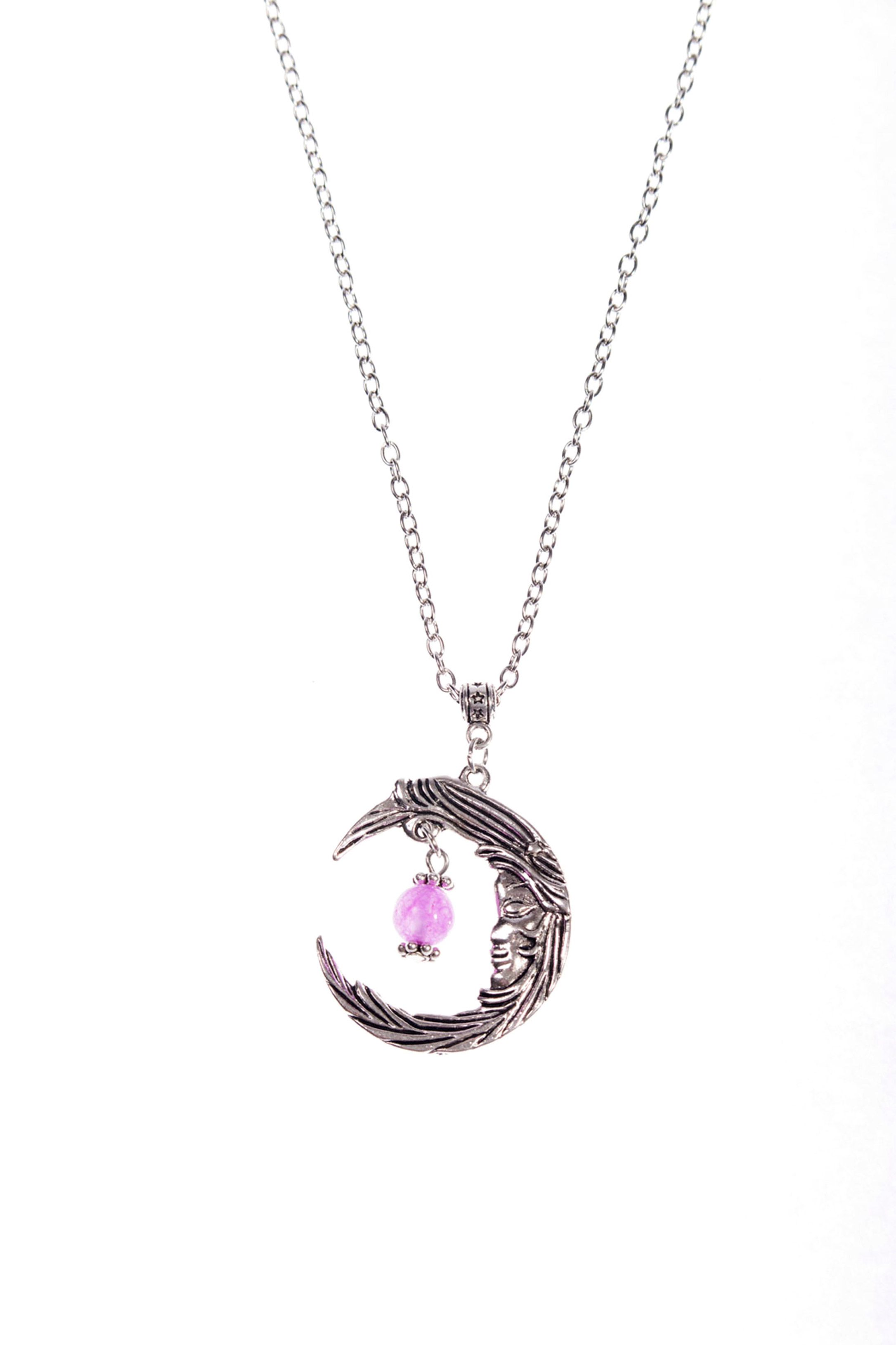 with half pendant necklace diamante gold p flower moon