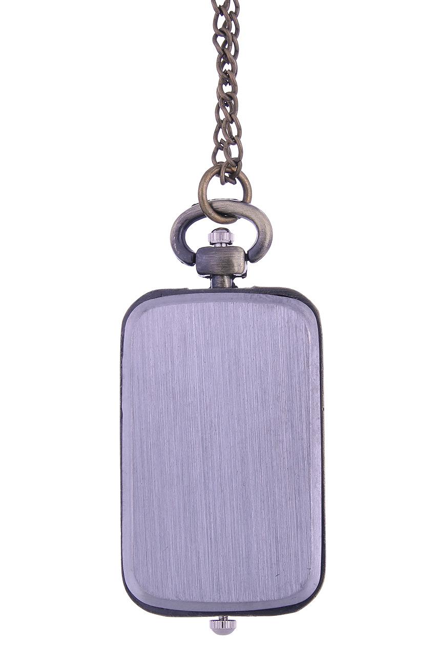 d6eced3dd4e Montre collier rectangulaire à 2 cadrans retro vintage steampunk ...