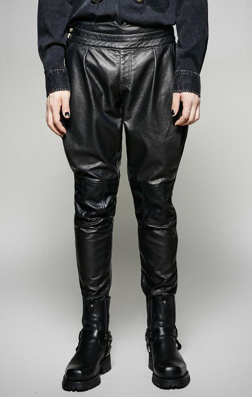 475cae37f8a Pantalon noir militaire simili cuir homme élégant aristocrate gothique Punk  Rave Cliquer pour agrandir