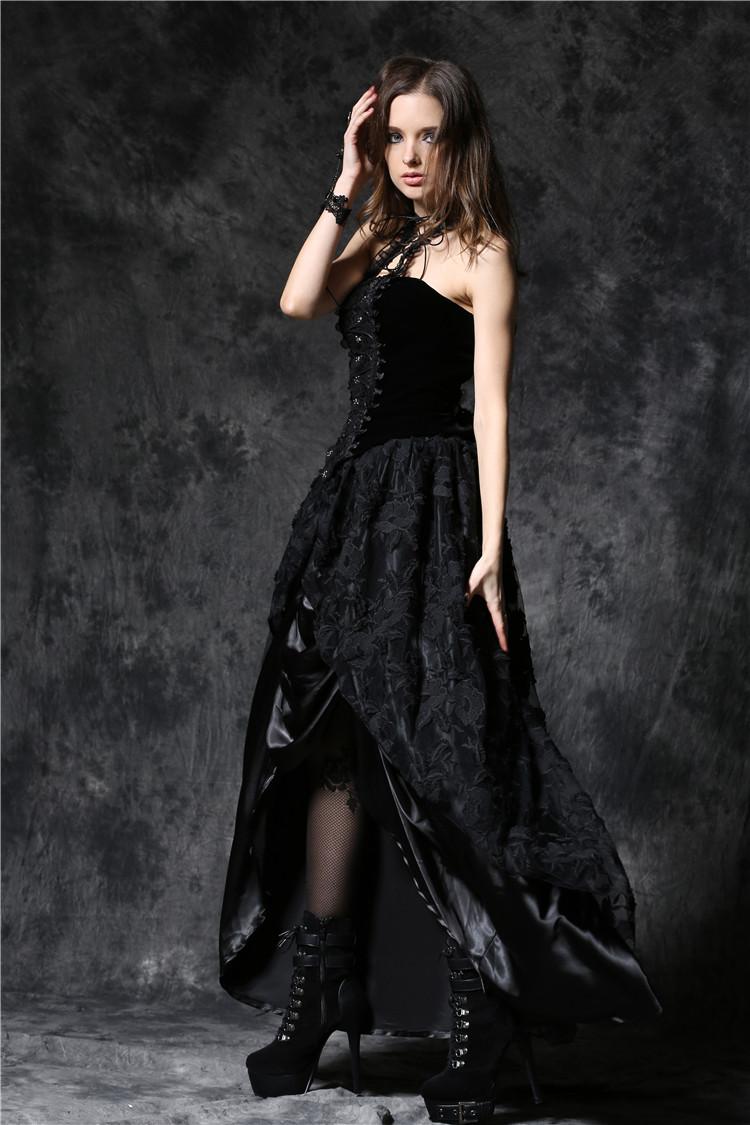jupe longue satin pliss e noire ouverte sur le devant et voile de dentelle elegant japan. Black Bedroom Furniture Sets. Home Design Ideas