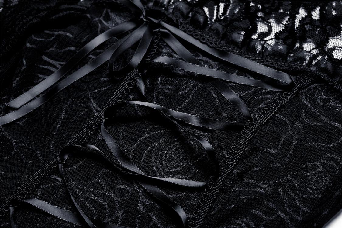 Haut noir en dentelle transparente avec laçage gothique romantique  Darkinlove 8 8 sur 8 Voir Plus e9c2afb7c65