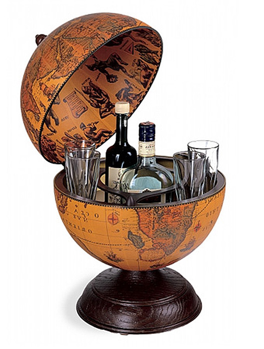 mappemonde globe terrestre bar de table alfeo steampunk japan attitude deco0189. Black Bedroom Furniture Sets. Home Design Ideas