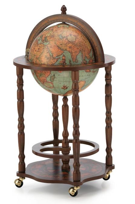mappemonde globe terrestre lagune bar sur roulette reproduction vintage meuble steampunk japan. Black Bedroom Furniture Sets. Home Design Ideas