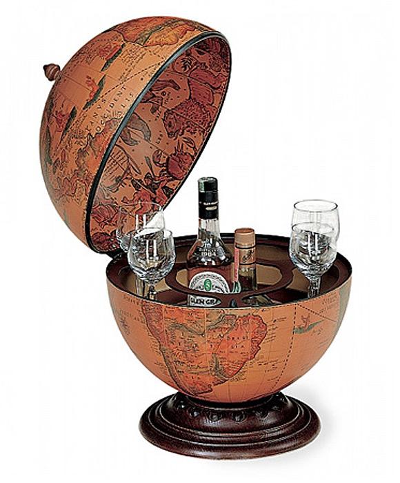 grande mappemonde globe terrestre bar de table nettuno vintage steampunk japan attitude deco0194. Black Bedroom Furniture Sets. Home Design Ideas
