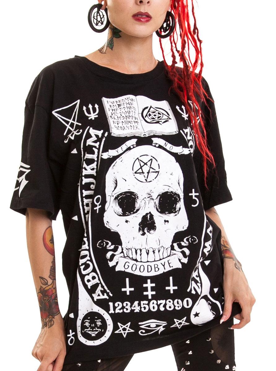 CURSE T UNISEX BLACK, Heartless, cursed skull, occult symbols, gothic SKU :  INNO0048