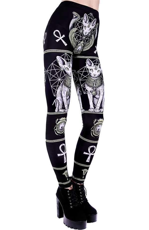 Restyle Moon Child Gothic Nugoth Punk Witch High Waist Leggings Pants Trousers