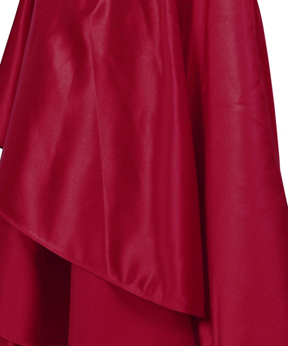 9da5e4a339681f Longue jupe sirène en satin rouge vin élégante gothique fashion, tenue de  soirée, cocktail Référence : VGLM0278