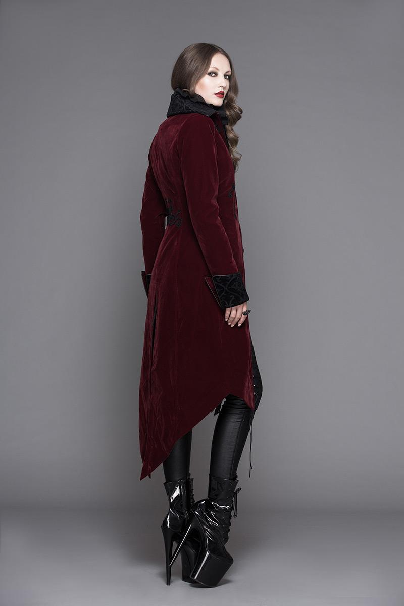 Manteau velours femme gothique